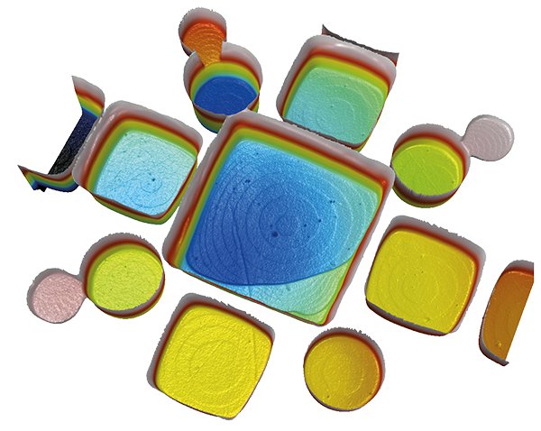 Topography of subnanometer atomic layer