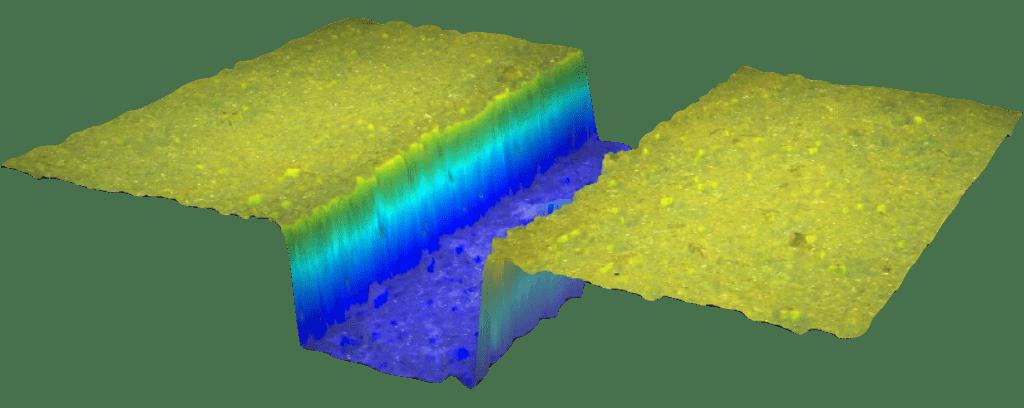 3D measurement of a new pad groove