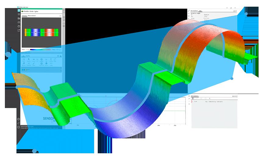 SensoVIEW screen & topo