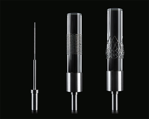 Mandrel fixtures with stent sample