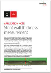 Q six Application notes Stent wall thickness measurement