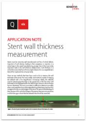 Q vix Application notes Stent wall thickness measurement