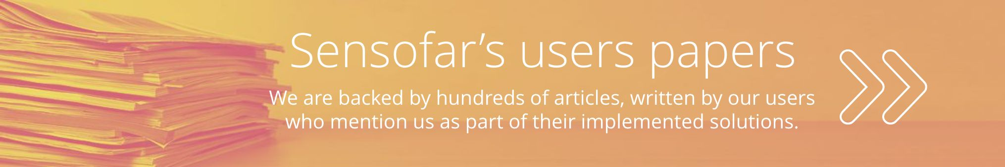 Sensofar's users papers banner