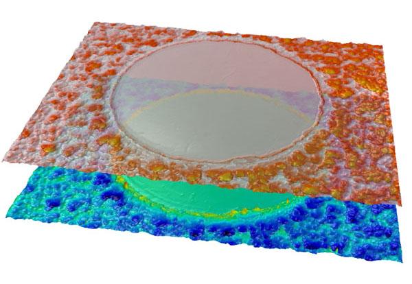 texture on aluminium anodized surfaces