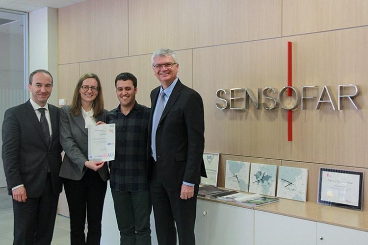 Sensofar Medical 获得 SGS 颁发的 ISO 9001:2015 认证