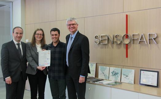 Sensofar Medical receives ISO 9001:2015 certification from SGS