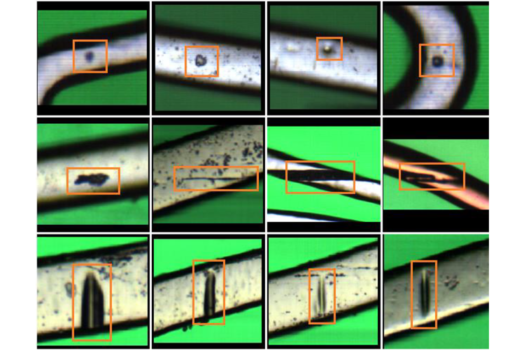 Automated stent defect detection and classification with a high numerical aperture optical system