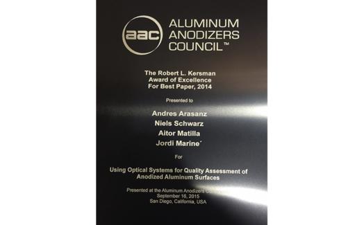SensofarがAAC最優秀論文賞を受賞