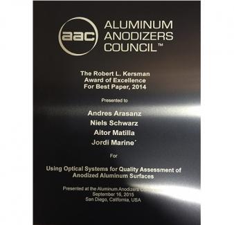 AAC Best Paper Award goes to Sensofar