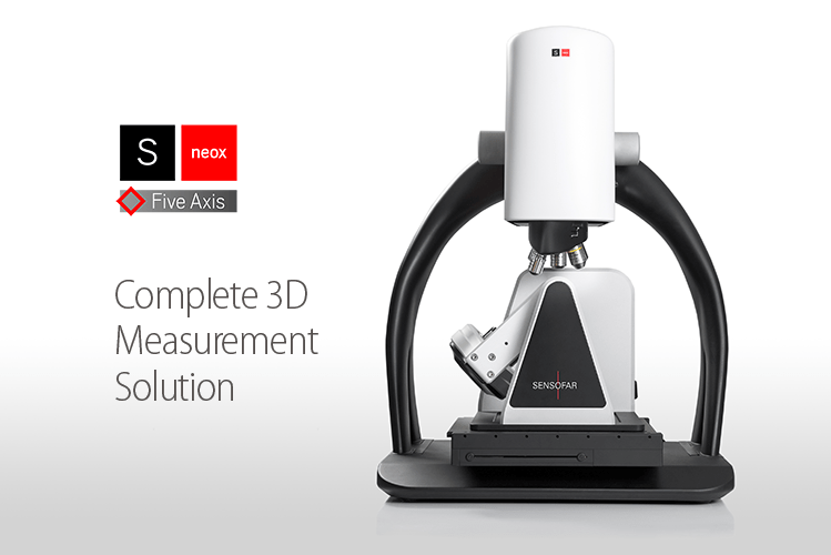 Complete and fast 3D measurement solution, new S neox Five Axis